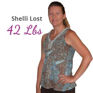 Shelli lost 42 lbs